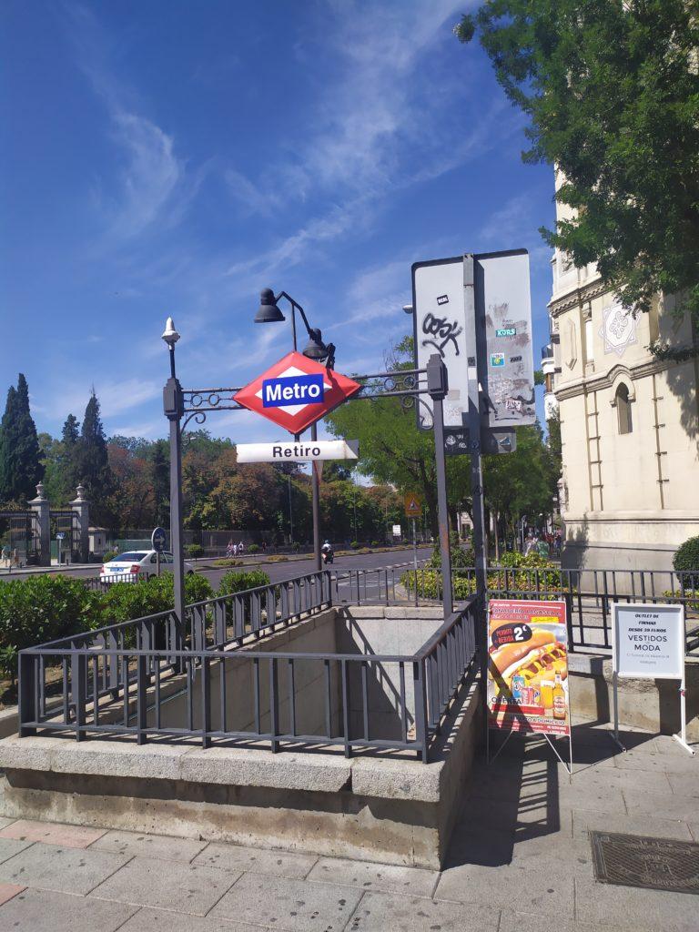 Станция метро Ретиро