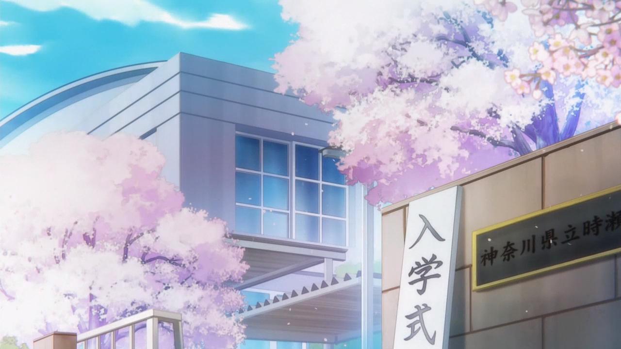 Скриншот из аниме с сакурой